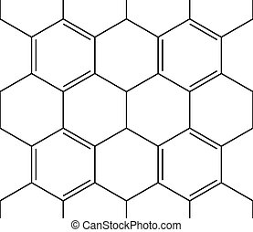 Abstract seamless chemical background - pattern on white, 2d illustration, skeletal style, vector, eps 8