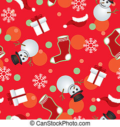 Abstract seamless christmas pattern