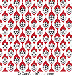 abstract seamless circle pattern vector background