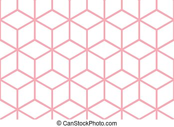 Abstract seamless cube pattern