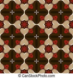 Abstract seamless dark vector wallpaper pattern.