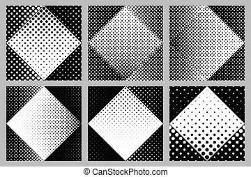 Abstract seamless dot pattern background design set