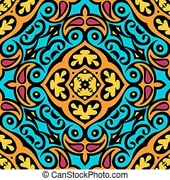 abstract seamless ethnic vector tiled design