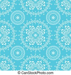 Abstract seamless floral blue backg