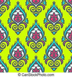 abstract seamless floral festive vector design