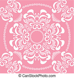 Abstract seamless floral pink backg