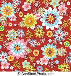 abstract seamless flower pattern. Colorful vector...