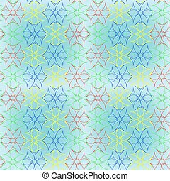 abstract seamless flowers pattern extended