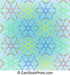 abstract seamless flowers pattern