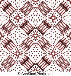 Abstract seamless geometric embroidery pattern - Abstract...