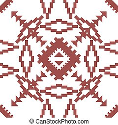 Abstract seamless geometric embroidery pattern of triangles...