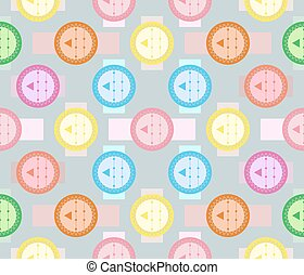 Abstract seamless geometric pattern. Fancy colored shapes