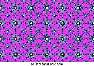 Abstract seamless geometric pattern on a purple background