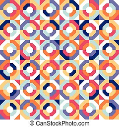 Abstract seamless geometric patterns