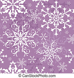 Abstract seamless lilas background with snowflakes