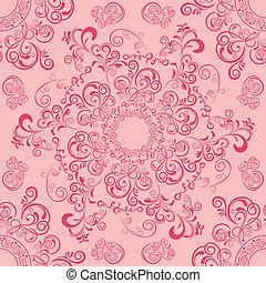 Abstract seamless mandala pattern