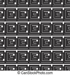 abstract seamless monochrome pattern