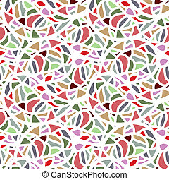 Abstract seamless mosaic pattern