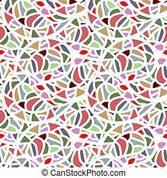 Abstract seamless mosaic pattern