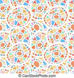 Abstract seamless mosaic