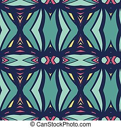 Abstract seamless ornament pattern. kaleidoscope effect. - ...