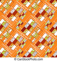 Abstract seamless patchwork pattern texture background