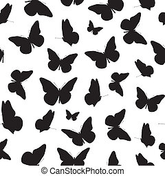Abstract Seamless Pattern Background with Butterfly. Illustration