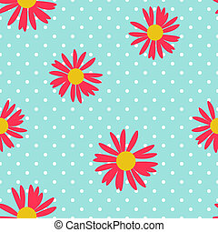 Abstract Seamless Pattern Background with Flowers. Illustration