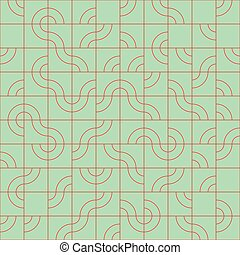Abstract seamless pattern design with tiled circular shapes,...