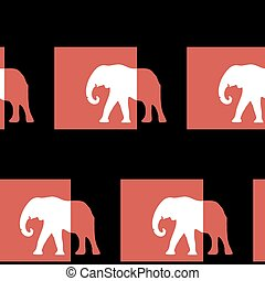 Abstract seamless pattern elephants