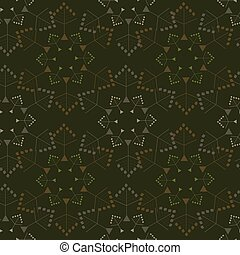 Abstract seamless pattern illustration of snowflakes.
