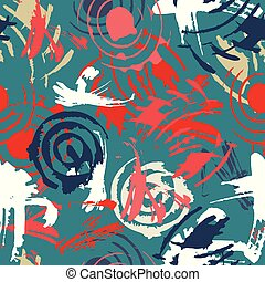 abstract seamless pattern in graffiti style for your design