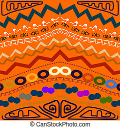 Abstract seamless pattern in the tribal style. Vector illustrati