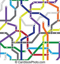 Abstract seamless pattern - metro scheme