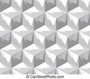 Abstract seamless pattern of cubes. The illusion of a three-dimensional image.