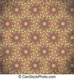Abstract seamless pattern of floral
