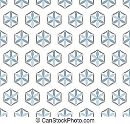 Abstract seamless pattern of geometric shapes on a white background.