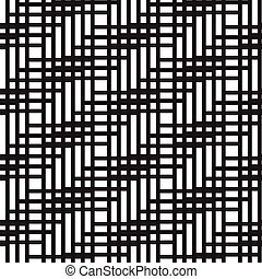 Abstract seamless pattern of lines. Vector illustration