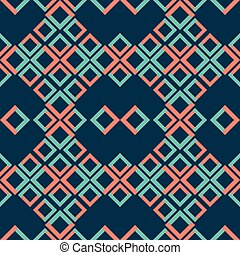 Abstract seamless pattern of two-colored squares