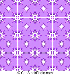 Abstract seamless pattern of white snowflakes on a purple background