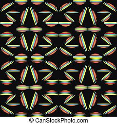 Abstract seamless pattern on a black background