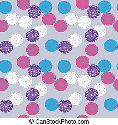 Abstract seamless pattern on a gray background