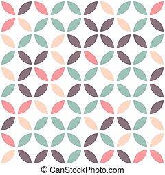 Abstract seamless pattern on a white background.