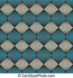 Abstract seamless pattern optical illusion