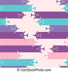 Abstract seamless pattern with airplanes