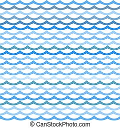Abstract seamless pattern with blue waves.