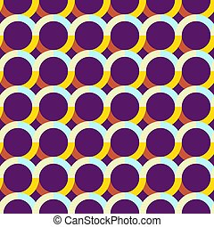Abstract seamless pattern with circles. Bright saturated colors.