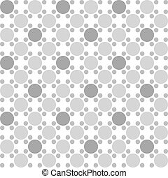 Abstract seamless pattern with circles on a white background