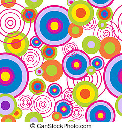 Abstract seamless pattern with concentric circles
