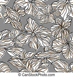 Abstract seamless pattern with decorative flowers